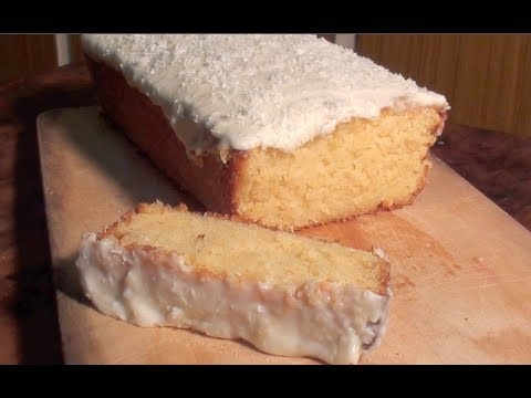 DELICIOUS COCONUT CAKE: with sour cream lemon icing