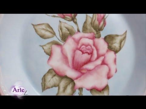 C mo pintar sobre porcelana youtube - Como pintar sobre azulejos ...