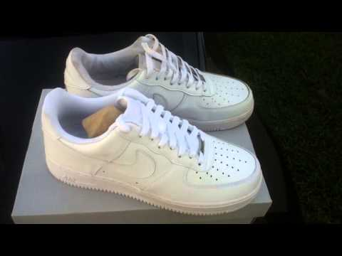 Real Vs Fake Nike AF1 ALL WHITE