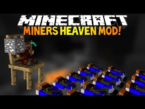 Minecraft: MINER'S HEAVEN MOD! - Whole New Miner's Dimension!