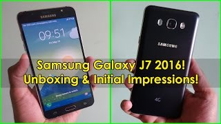 Samsung Galaxy J7 2016 Unboxing and Initial Impressions!