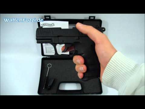 Walther P22Q kal. 9mm P.A.K - Schreckschuss. Gaswaffen Test. Gas Pistole. www.waffenfuzzi.de