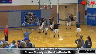 BASKETBALL - WHOLE Game plus Commentary - Gordon Rushville vs Chase County - FREAM Sports