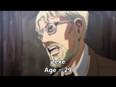 Attack On Titan All Characters Age Comparison