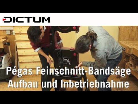 DICTUM Pegas Feinschnitt-Bandsäge (1) - Aufbau und Inbetriebnahme