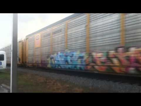 CSX Auto Rack Train, Tampa, FL, Monday 5/20/13