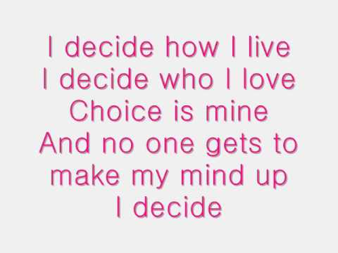 I Decide - Lindsay Lohan lyrics