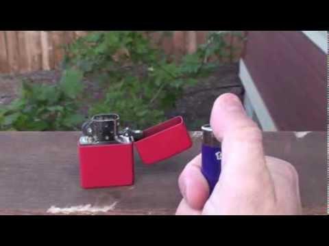 Zippo Windproof vs Standard BIC Lighter