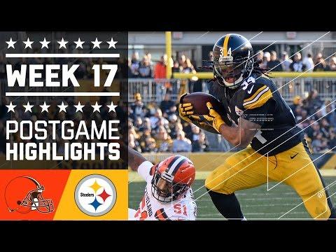 Browns Vs Steelers Nfl Week 17 Game Highlights