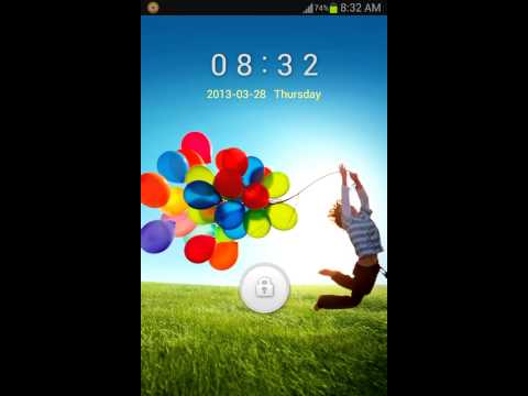 Samsung Galaxy S4 Inspired Lockscreen