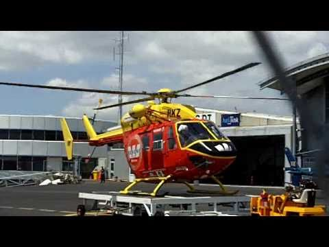 Rescue Helicopter Responds To Emergency Auckland Nz 25 Oct 2010