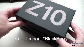 BlackBerry Z10 Unboxing & Hardware Tour