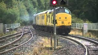 Network Rail test train 1Q14 with 37682 TnT 97304 through Kilmarnock 27-09-12.mpg