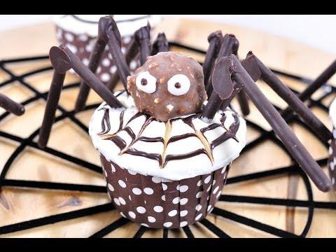 คัพเค้กแมงมุม Halloween Cupcake (เทศกาล Halloween)