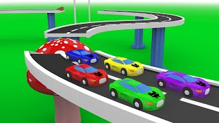 Learn Colors for Children with Racing Cars - Colours for Kids with Racing Cars Video for Children