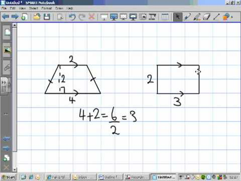 how to work out the area of trapezium