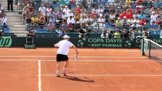 Andy Roddick volley against Chile in Davis Cup 2011
