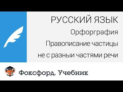 Русский язык. Правописание частицы не с разными частями речи. Центр онлайн-обучения «Фоксфорд»
