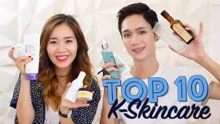 TOP 10 Korean Skincare ft. Edward Avila + GIVEAWAY!