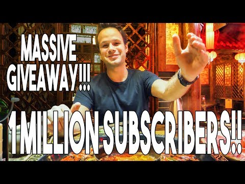 ONE MILLION SUBSCRIBERS!!! HUGE GIVEAWAY!!!