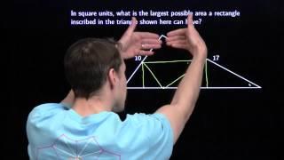 MATHCOUNTS Mini #45 -- Maximum Area of Inscribed Rectangles & Triangles