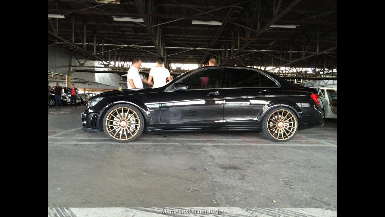 Mercedes Benz W204 C63 Amg Vossen Wheels Youtube