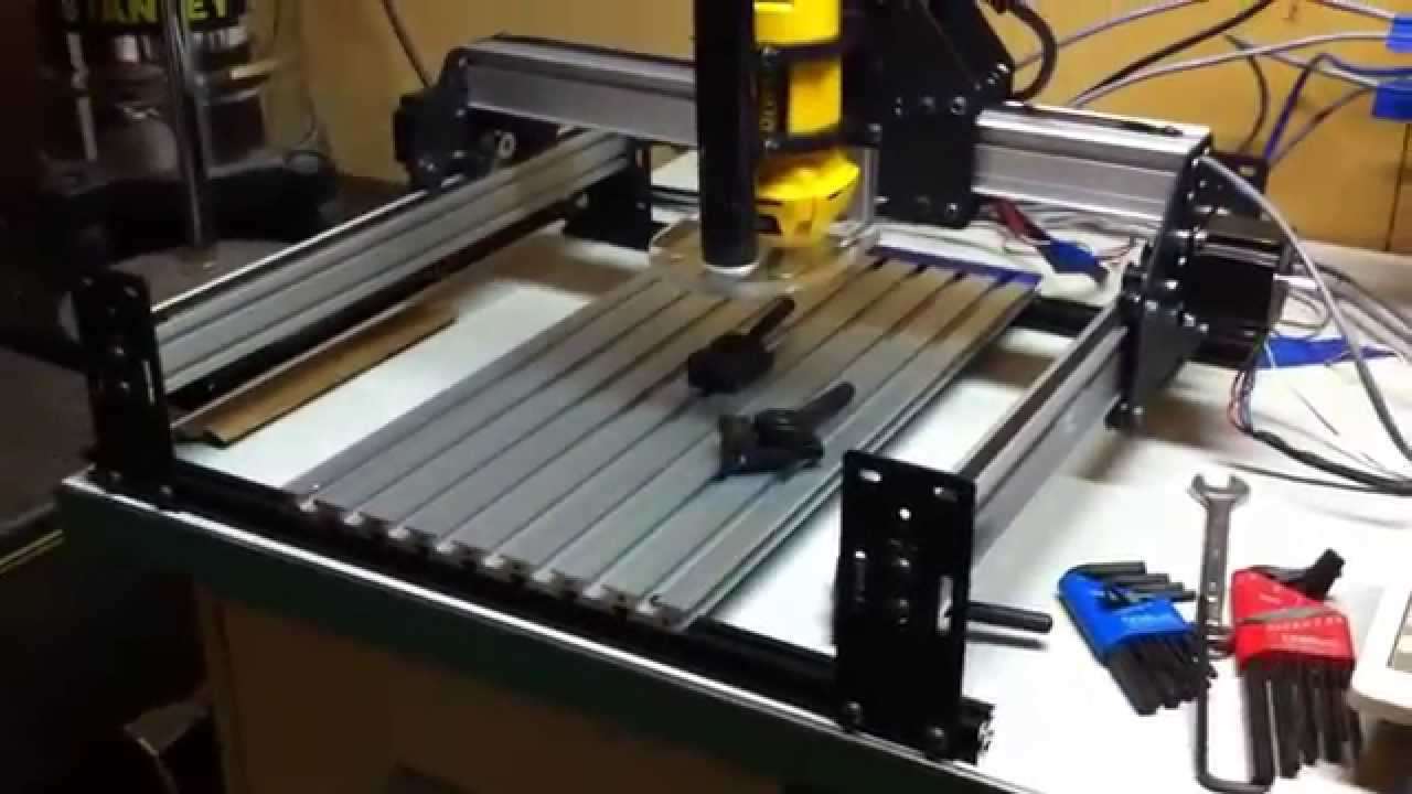 Shapeoko 2 T Slot Aluminum Bed And Modified Belt Clips
