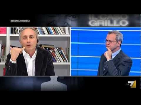 Marco Travaglio e Stefano Cappellini, due punti di vista diversi sul M5s (La7, 15Feb2013)
