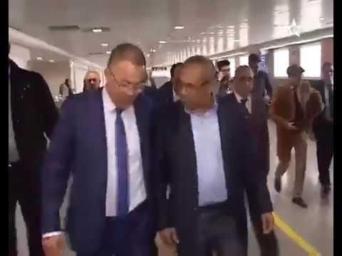 Le nouveau président de la CAF Ahmad Ahmad arrivée au Maroc.