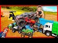 RC Monster Truck CRUSHING Toy Trucks! - Most Powerful EVER!
