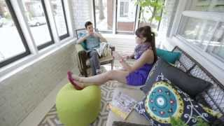 Interior Design — Bright Sunroom Porch Makeover