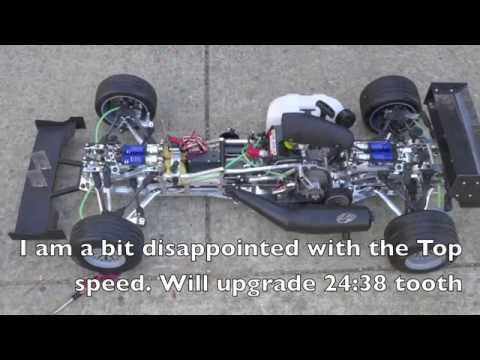 FG 1/5 scale Formula 1 competition 09 top speed. Watch in HD!