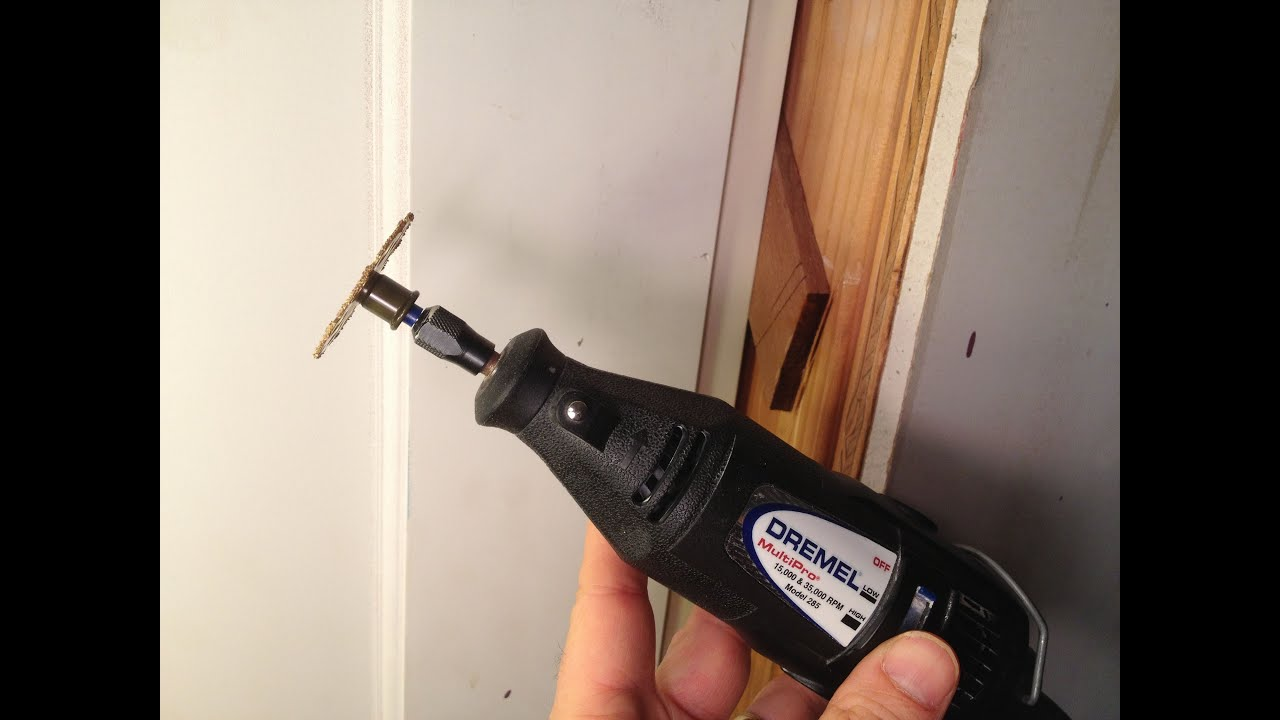 Cutting Wood Door : Using a dremel to trim door frame shims youtube