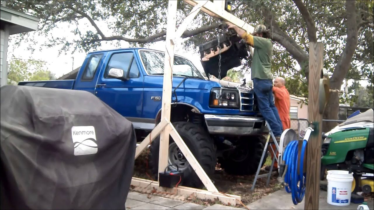 diy wood engine hoist