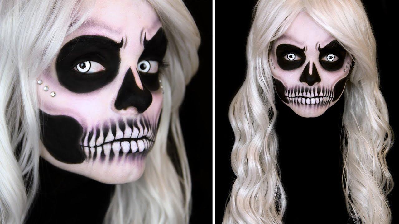 glam skull makeup tutorial youtube. Black Bedroom Furniture Sets. Home Design Ideas