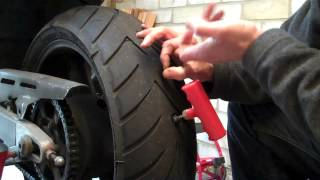Delboy's Garage, Emergency Puncture Repair, Motorcycle Tyre.