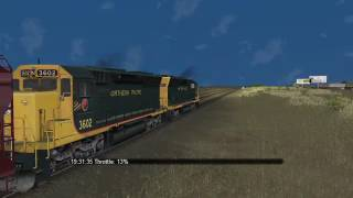 Microsoft Train Simulator - SCXY SD40M-2 #1325 with Freight_7/5/2017