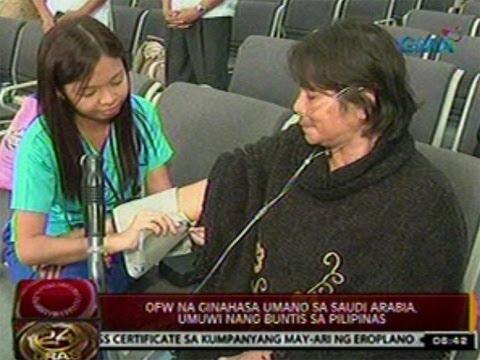 24Oras: OFW na ginahasa umano sa Saudi Arabia, umuwi nang buntis sa Pilipinas