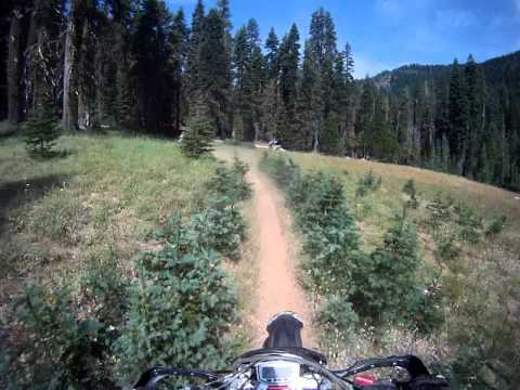 Watch This #2. Plumas Eureka State Park. Dirtbiking, First Trail of the day.