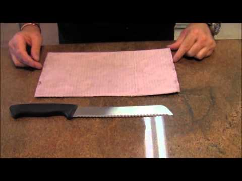 Knife Sharpening: Kitchen Knife Sharpening: How To Sharpen A Serrated Knife Blade