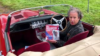 Author Philip Porter, the Italian Job E-type and The Self Preservation Society