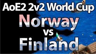 AoE2 2v2 World Cup | Norway vs Finland | Semi Finals