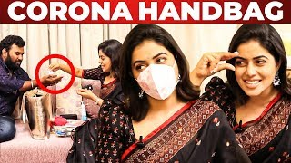 Actress Poorna Handbag Secrets Revealed By Vj Ashiq | What's Inside The Handbag?