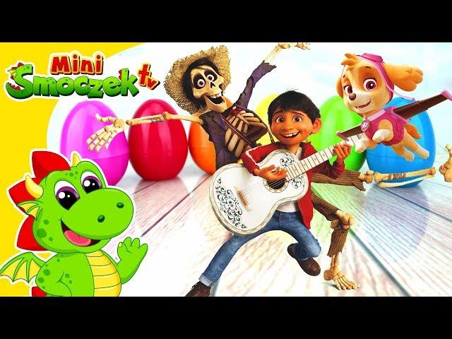 Disney COCO Jajka Niespodzianki - Skye (Psi Patrol) szuka Miguela i stara się nie zjeść Hectora!