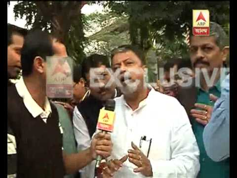 Mukul Roy talking to ABP Ananda after coming out of cbi office where he was interrogated.
