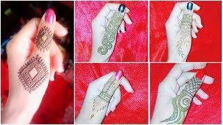 5 easiest DIY Thumb Mehndi Designs | Beautiful & Stylish thumb henna design | hayat beauty trend |