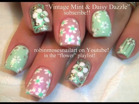 5 Nail Art Tutorials | Easy Flower Nails for Beginners | DIY Vintage Designs
