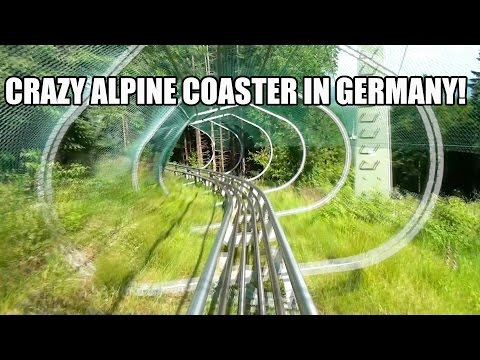 Awesome Trapper Slider Alpine Roller Coaster POV Fort Fun Germany
