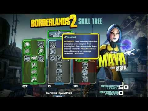 Borderlands 2 Skill Tree Builder - Maya Siren Class