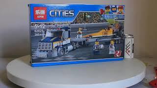 Mở hộp Lepin 02025 Lego City 60151 Dragster Transporter giá sốc rẻ nhất